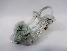 New Girl's Dressy Silver Shoe Wedding/Church/Graduation Size 11 Toddler -5 Youth