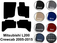 Mitsubishi L200 Crewcab (2005 to DATE) New Fully Tailored Carpet Car Floor Mats