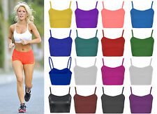 New Ladies Bra Strap Crop Top Bralet Party Womens Strappy Girls Cami Mini Tops