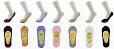 Women Invisible Footsies Trainer shoe liner ballerina Sock Cotton Rich Non Slip