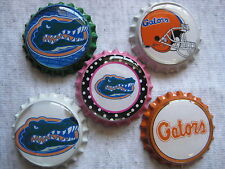 Florida Gators Scrapbooking Crafts Bottle Caps Set #10 - Flattened/Non Flattened