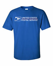 USPS POSTAL ROYAL T-SHIRT FULL TWO COLOR POSTAL LOGO ON CHEST SIZES SMALL - 3X