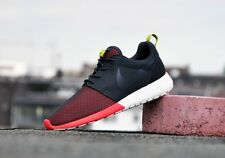 Mens Nike Roshe Run Rosherun Split Toe Sneakers New, Black / Red 511881-021