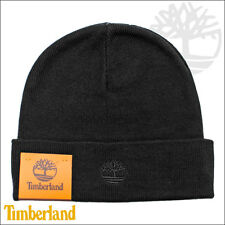 Timberland Unisex Imported Acrylic Basic Cuffed Black Grey Orange Beanie Hat