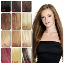 Hot Clip In Human Hair Extension Full Head 100% Remy Hair Extensions 15'' /18''