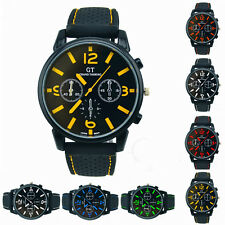 Black New Silicone Mens Wrist Watch Sport Quartz Analog Watches Gift