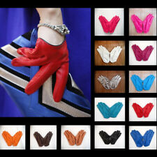 Sexy Fashion Women's Faux Leather Half Five Finger Half Palm Warm Party Gloves
