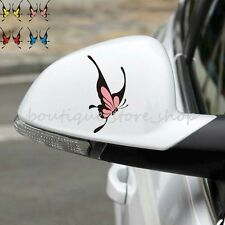 2PCS 4 Color cute Butterfly Rearview Mirror random body car stickers wall decals