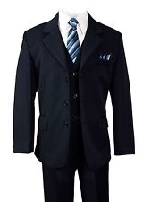 Formal Boys Pinstripe Navy Suit Holiday Toddler Big Boys