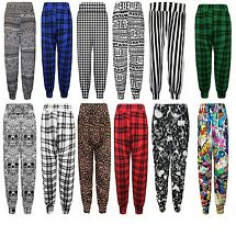 S215 WOMENS ALI BABA PRINTED HAREM BAGGY STRETCH TROUSERS PANTS LOOSE FIT