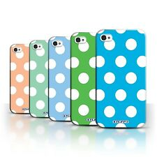 STUFF4 Back Case/Cover/Skin for Apple iPhone 4/4S/Polka Dot Pattern