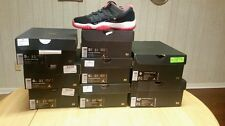 Nike Air Jordan Retro XI 11 Low Bred Black True Red  DS