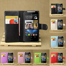 Flip Leather Wallet Case Cover Pouch For HTC Desire 310