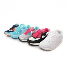 Women's Fashion Lace Up Round Toe Sneaker Breath Inside Heighten Casual Shoes