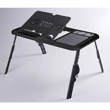 Adjustable Folding Laptop Table Desk Tray Stand with Mouse Board and Cooler Fan