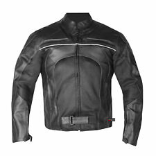 New Men's Razer Motorcycle Biker Armor Mesh & Leather Green Riding Jacket