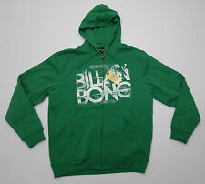 Billabing Mens Size M Kelly Green Regular Fit Zipper Hoodie Sweatshirt New
