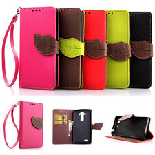 Luxury Stand Cute Flip Leather Card Holder Skin Case Cover For LG Optimus Phone