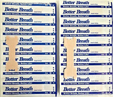 100-500X BREATHE RIGHT TAN Nasal Strips SM/MED Large Nose Stop Snoring Breath GT