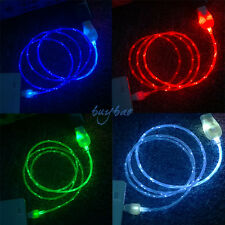 LED Visible Flow Light Micro USB Charger Data Sync Cable for Android Cellphones