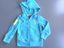 New NWT Girls Polo Ralph Lauren Hoodie Sweatshirt Size 2T Ligh  Blue Large Pony