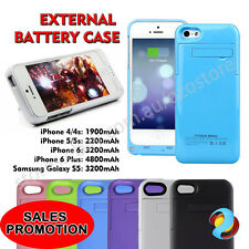Portable Backup External Battery Charger Case For iPhone 4 5 6 Plus Galaxy S5