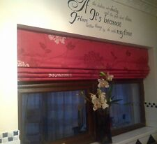Made to measure Roman blind Laura Ashley Isodore cranberry chain sidewinder