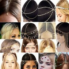Head Chain Jewelry Metal Rhinestone Headband Hair band Wedding Hair Accessories