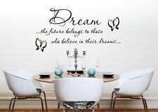 Dream The Future Nursery Children's Bedroom Decal Wall Art  Sticker Picture