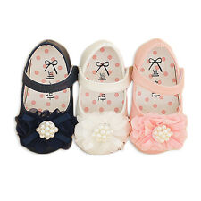 New Baby Girls Christening Shoes available in White, Pink  6 9 12 15 18 Months