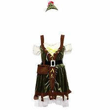 Ladies Sexy Robin Hood Maid Marion Fancy Dress Medieval Costume Fairytale Outfit