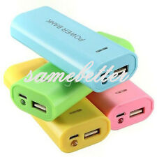 USB Power Bank 5600mAh 2x 18650 Battery Charger Box Case Kit For iPhone Huawei