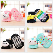 1 Pair Lovely Newborn Baby Girl Boy Cartoon Anti-slip Socks Slipper Shoes Boots
