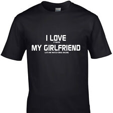 I LOVE IT WHEN MY GIRLFRIEND LETS ME WATCH DRAG RACING funny t shirts