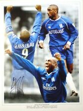 Jimmy Floyd Hasselbaink Signed Chelsea Photo 16x12