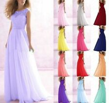 2017 New Formal Bridesmaid Dress Long Evening Ball Gown Party Prom Size 6-18