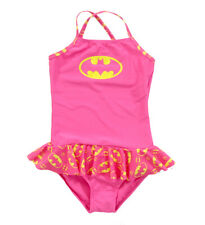 Girls Toddler DC Comics Superhero Swim Wear Batman Skirted 1 Piece Bathing Suit
