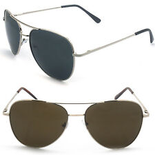 Men Women Metal Frame Aviator Pilot Classic Sunglasses with Spring Hinge
