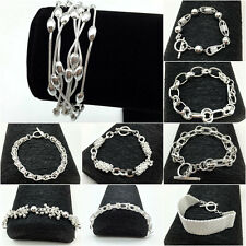 Wholesale Fashion Silver Jewellery Solid 925 Sterling Silver Bracelet/Bangle