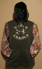 Under Armour Cold Gear Green Antler Realtree Camo Hoodie RARE L, XL NWT