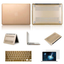 Champagne Gold Laptop Rubberized Hard Cover Case Keyboard Skin For Apple MacBook