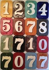 Numeral address tiles -house number- weatherproof mailbox, wall. Applewood