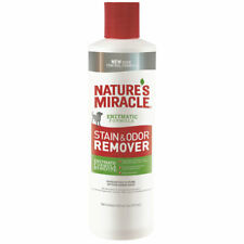 MIRACLE STAIN & ODOR REMOVER  Liquid Enzymes Eliminate Most Stains Odors & Smoke