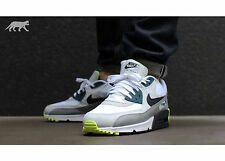 Mens Nike Air Max 90 Essential Sneakers New, White / Grey / Lime 537384-105