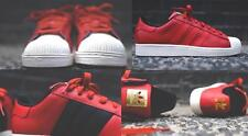 ADIDAS SUPERSTAR II LUX 2 LUXE D74391 BRICK RED/BLACK/WHITE VAPOUR/GOLD TREFOIL