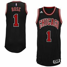 Derrick Rose Chicago Bulls Adidas Black 2014-15 YOUTH Swingman Alternate Jersey