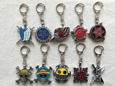 3-layer rotation keychain of Anime Naruto/One piece/Black Butler/Fairy Tail ETC