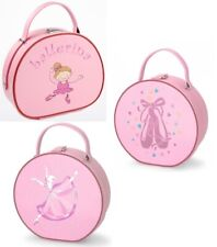 Roch Valley Childrens Girls kids Dance Ballet Tap Jazz Vanity Case Bag Pink