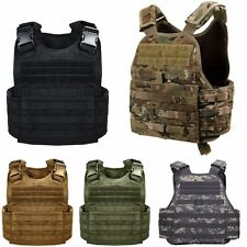 Rothco Solid And Camo Military MOLLE Tactical Plate Carrier Assault Vest