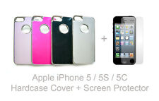 iPhone 5 Brushed Aluminium Luxury Hard Case Cover + Screen Protector